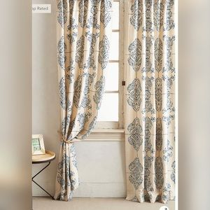 New Anthropologie Embroidered Gretta Curtain